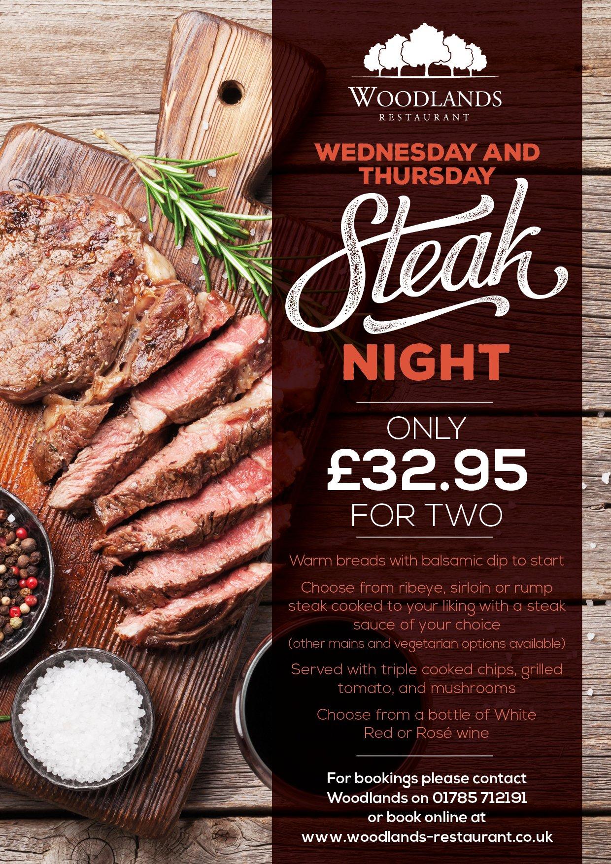 Woodland Steak Nights 2021